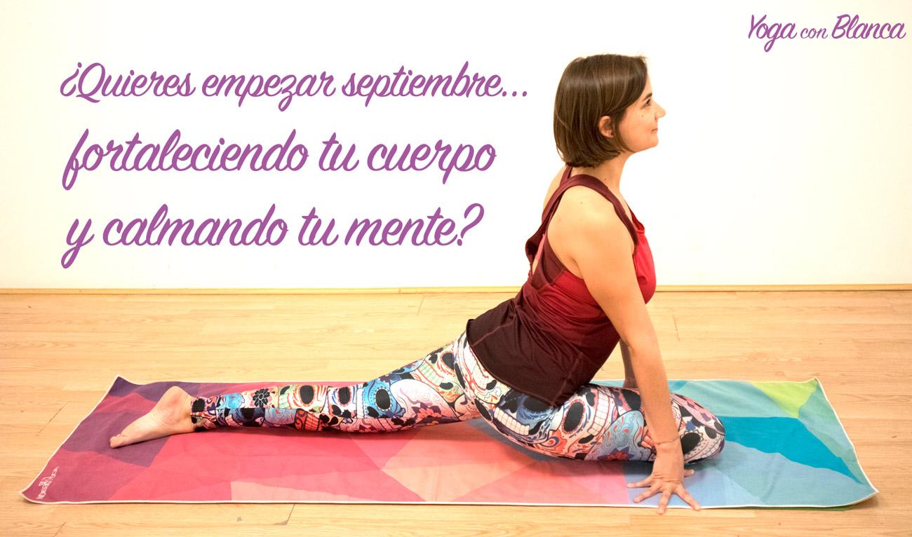 Clases yoga septiembre