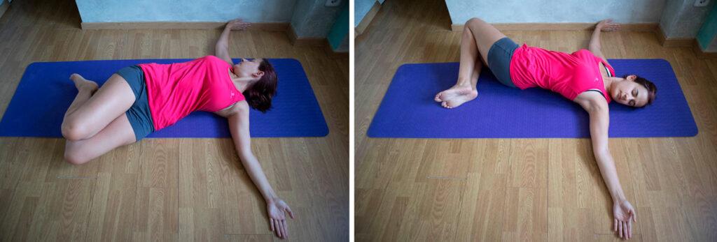 Torsion suave de la columna vertebral
