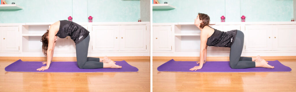 Postura yoga gato-vaca