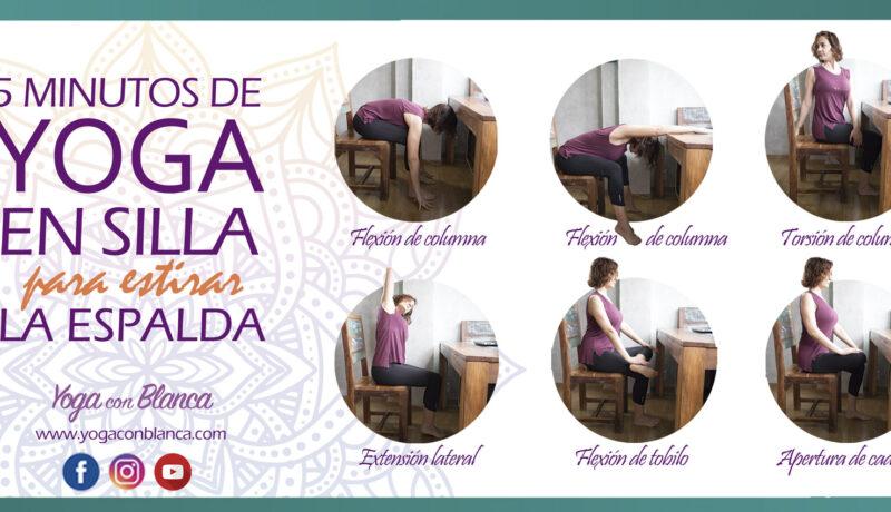yoga en silla para dolores de espalda