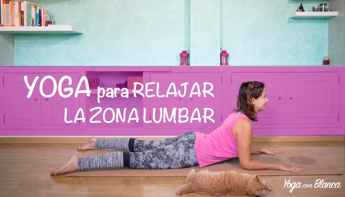 Portada relajar lumbares con yoga